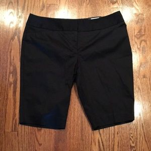 Women's Worthington Black Satin Dress Shorts